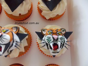 West Tiger Cupcakes
